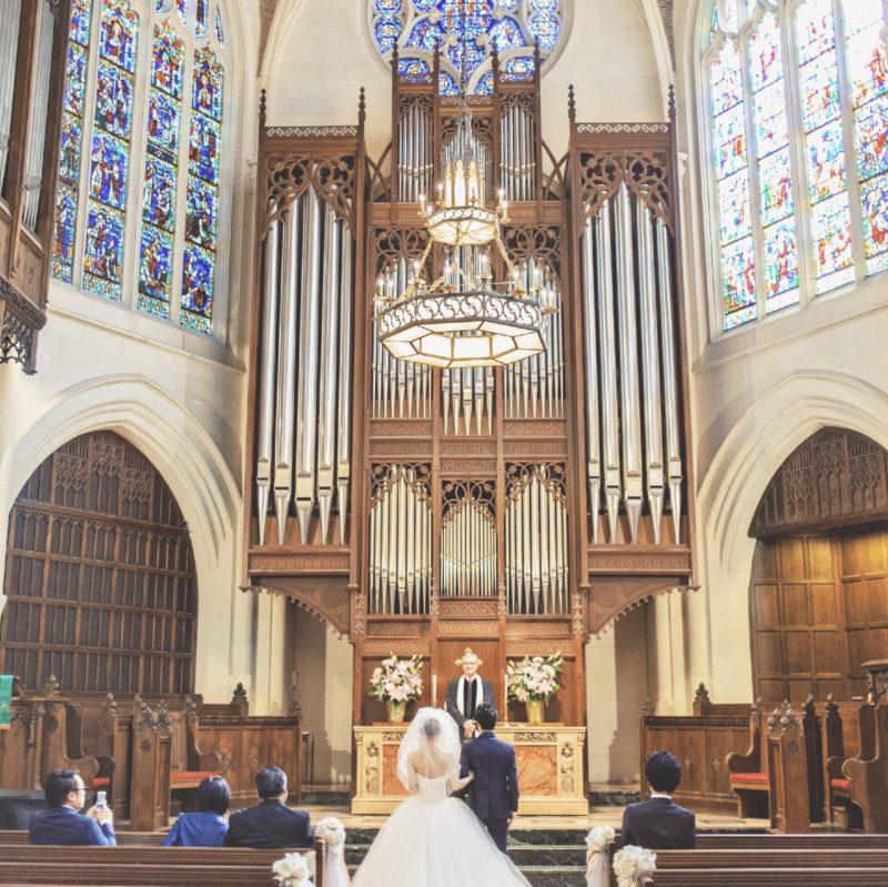 パリでの小さな結婚式-American Church in Paris
