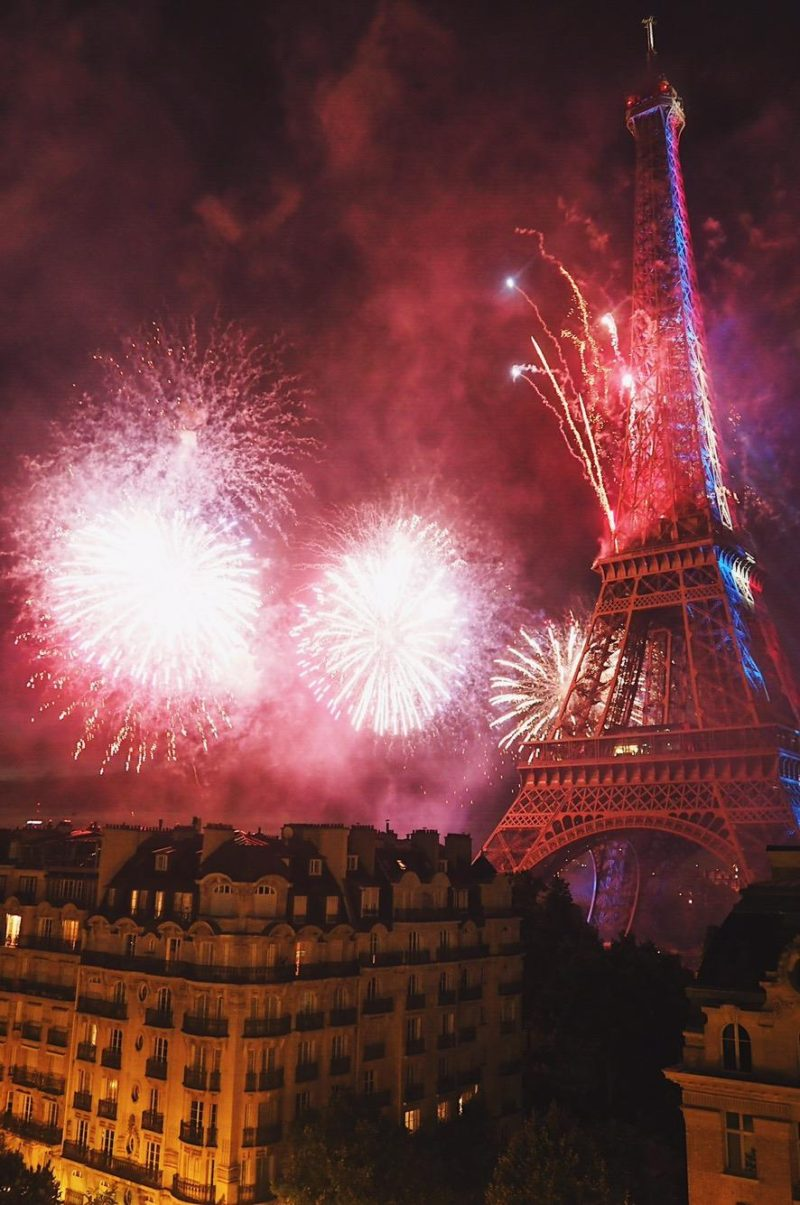 Paris Bastille Day -パリ祭の花火とエッフェル塔-